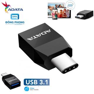 [Mã ELFLASH5 giảm 20K đơn 50K] Adapter Chuyển Type C Sang USB 3.1 Chính Hãng Adata