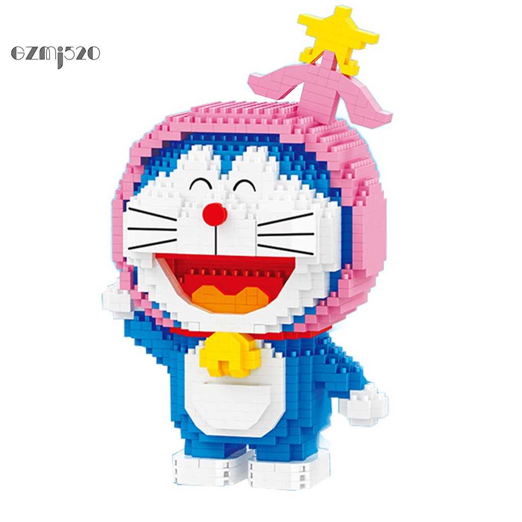 Gz Fadeless Educational Toy Cartoon Doraemon Building Toy Color Recognition Birthday Gift