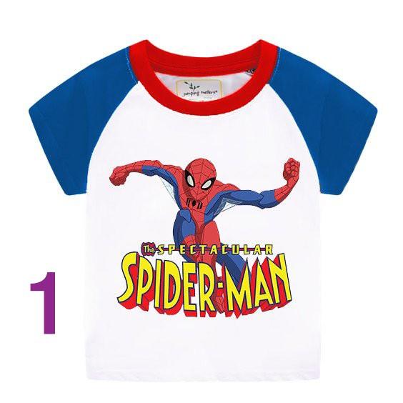 Áo phông cho bé mẫu SPIDER MAN