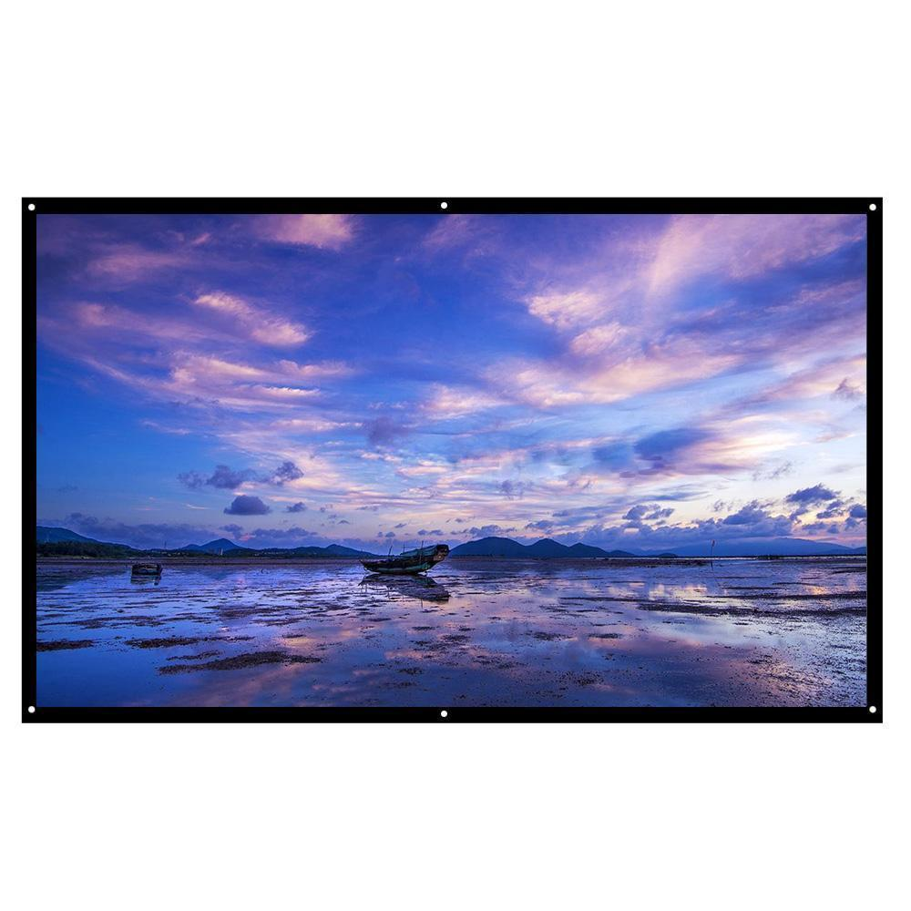 120in Portable Foldable Projector Screen 16:9 HD Home Theater Outdoor 3D Movies