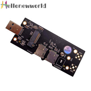 Hellonewworld NGFF M2 to USB 3.0 Adapter Converter Card w/Dual SIM Card Slot for 3G/4G/5G