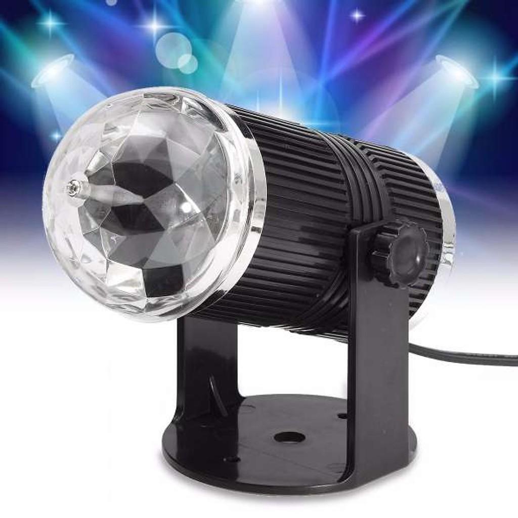 Đèn led mini 7 màu STAGE tạo hiệu ứng ánh sáng cho sàn nhảy - party-  karaoke -cảm ứng ánh sáng DJ xoay - Bóng đèn Hãng No brand