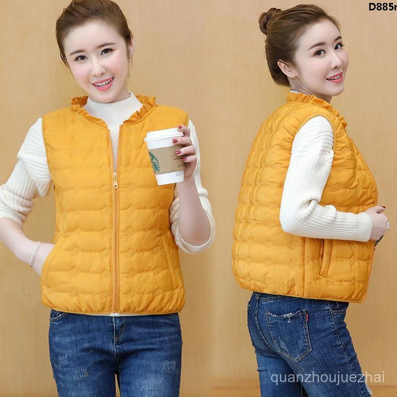 Áo Khoác Cotton Mỏng Không Tay Thời Trang Mùa Đông Cho Nữ