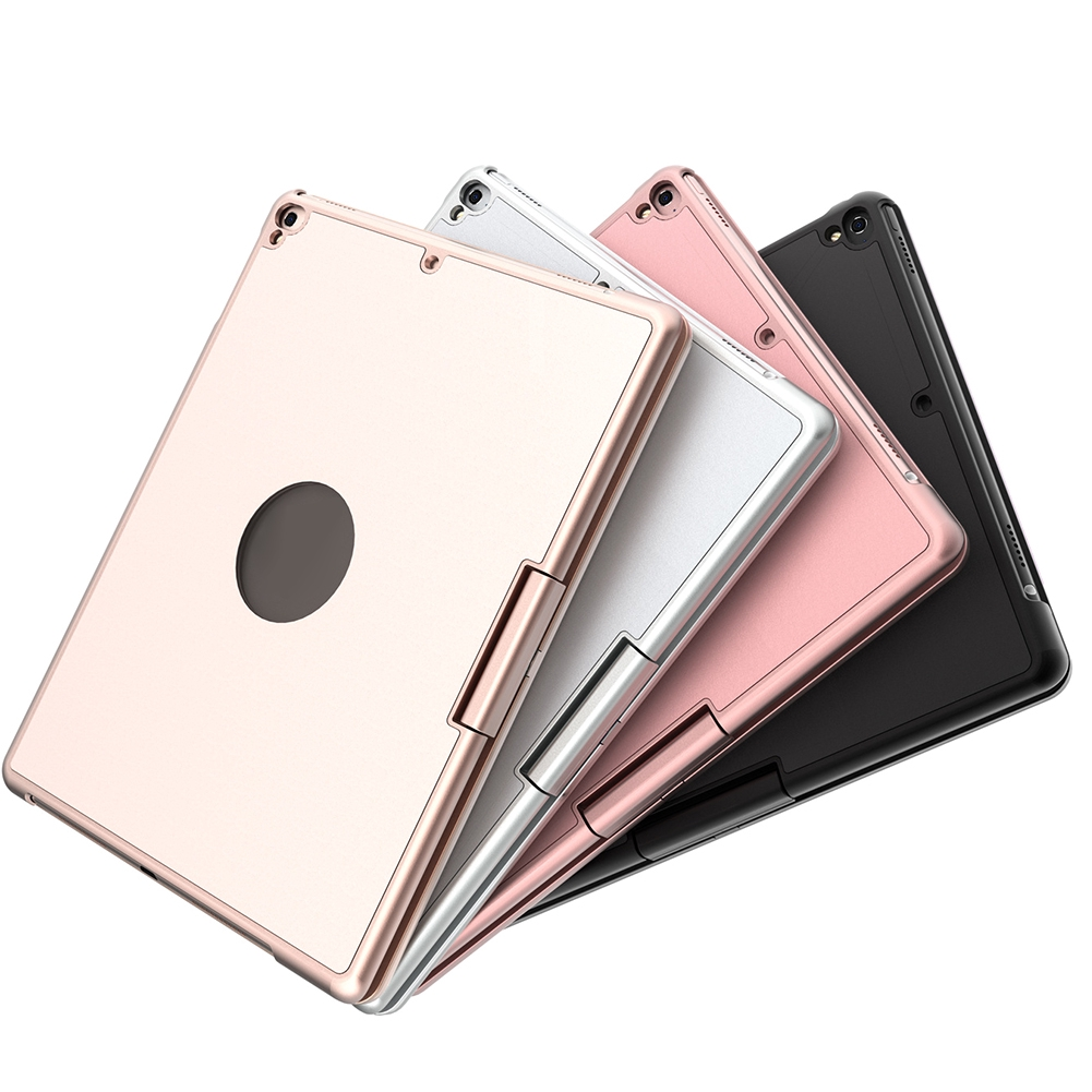 360 Degree Rotating Keyboard Cover Colorful Backlit Protection With Durable Home Wireless Smart For Ipad Pro9.7