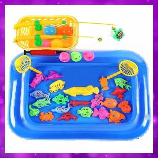 [BabyLove]Bộ đồ chơi câu cá kèm bể phao cho bé ( 21 con vật)