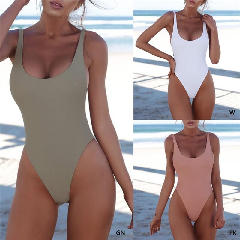 Mặc gì đẹp: Tắm biển vui với Bộ đồ tắm một mảnh màu trơn thiết kế hở lưng quyến rũ cho nữ