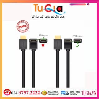 Cáp HDMI bẻ góc 270 độ dài 5m chính hãng UGREEN 10123 -Hãng Chính Hãng