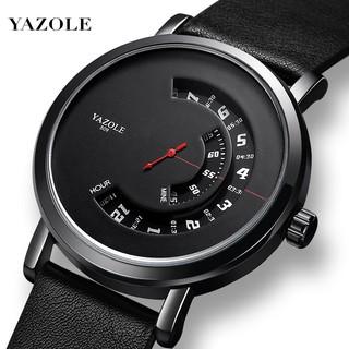 Đồng hồ nam Yazole 509 dây da sang trọng, kim chạy dọc thumbnail