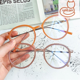 ☆YOLA☆ Women Men Anti-Blue Light Glasses Vintage Eye Protection Eyeglasses Portable Fashion Computer Round Ultra Light Frame