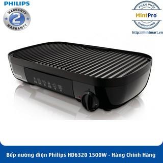 Vỉ Nướng Điện Philips HD6320 (1500W) – Hàng Chính Hãng – Bảo Hành 2 Năm Trên Toàn Quốc