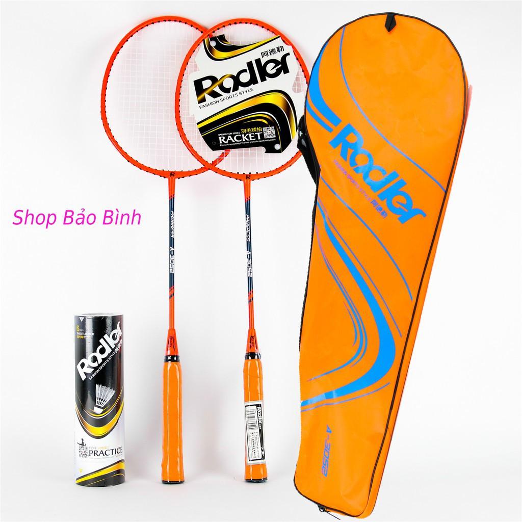 Bộ đôi vợt cầu lông Rodler kèm hộp cầu 6 quả