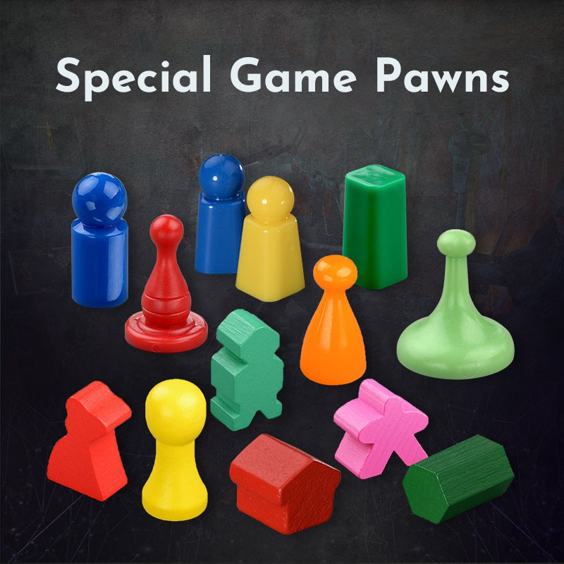 Phụ Kiện Súc Sắc/Quân Cờ Gifthing Bằng Nhựa Gỗ Với Nhiều Kiểu Dáng Và Màu Sắc Cho Board Game