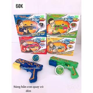 đồ chơi súng nhựa bắn con quay có đèn
