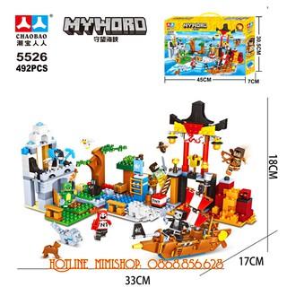 Bộ Lego Xếp Hình Mineecraft My World. 492 Chi Tiết. Lego Ninjago Lắp Ráp Đồ Chơi Cho Bé.