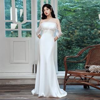 Đầm dạ hội đuôi cá phong cách Pháp thanh lịch thời trang dự tiệc cho nữ