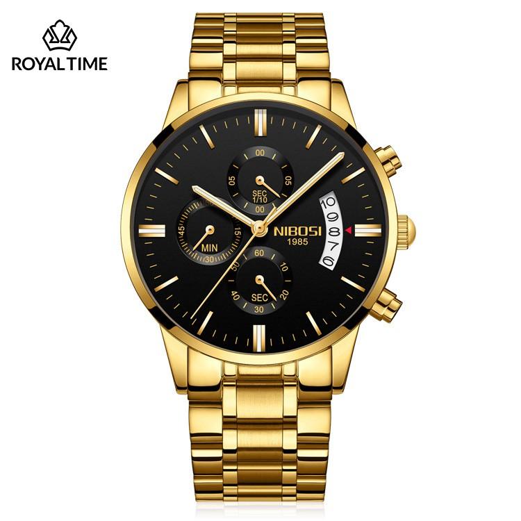 [Tặng vòng tay]Đồng hồ nam NIBOSI chính hãng NI2309.01E thời trang cao cấp