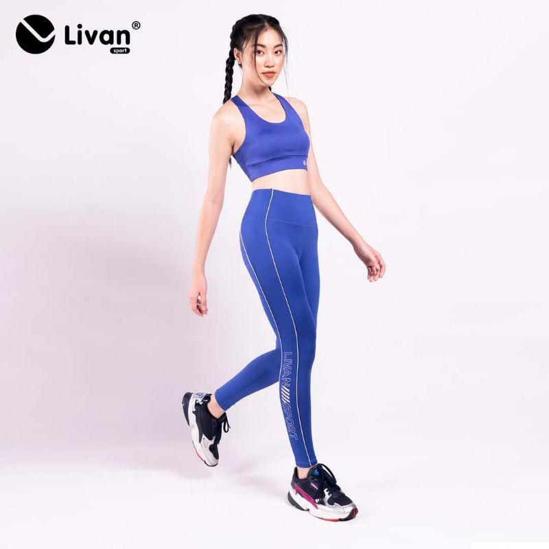 Bộ Tập Gym Yoga Livan Sport Phối Màu Power Up Tặng Kèm Mút Ngực Cao Cấp