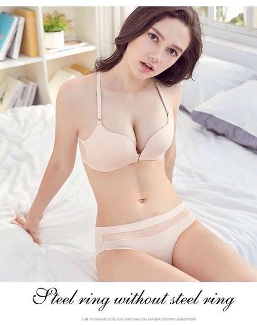 bộ đồ lót cài trước không gọng đẩy ngực cao cấp (giá buôn)