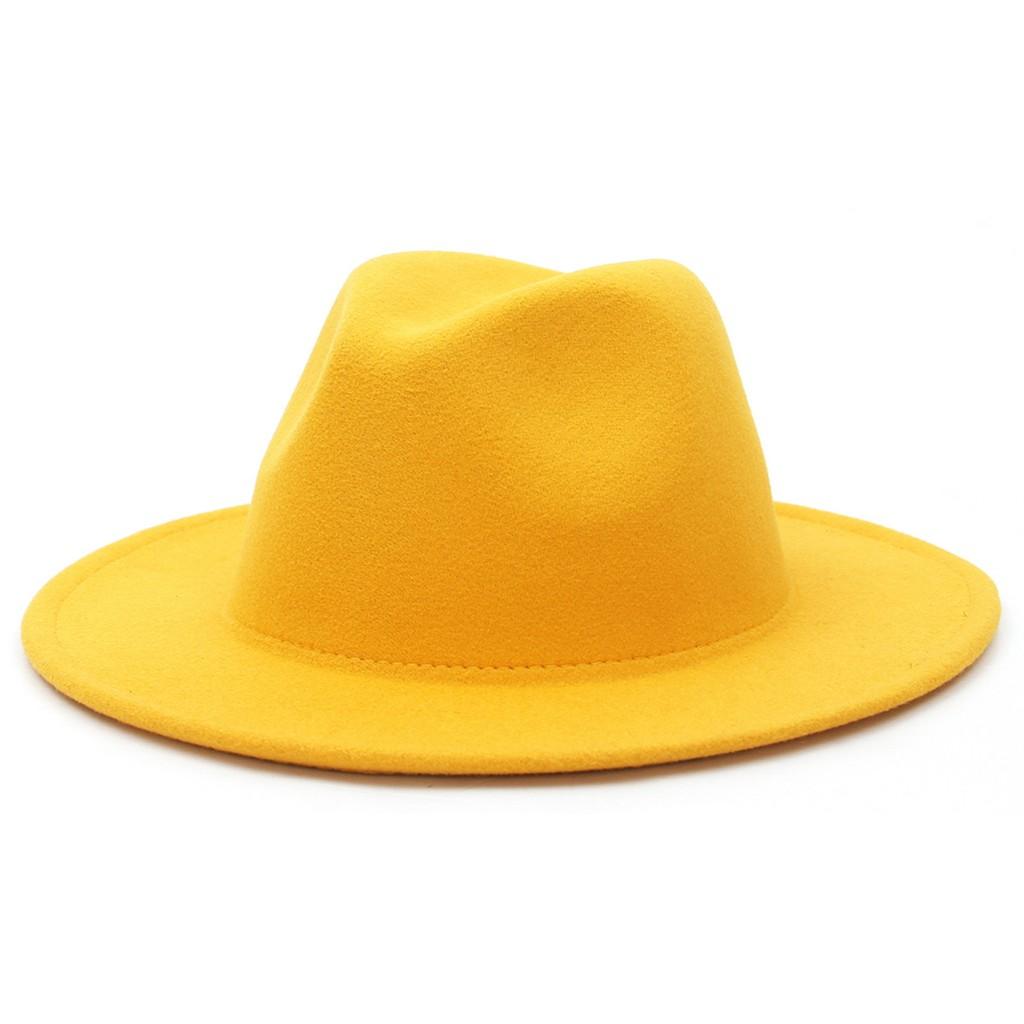 Mũ rộng vành màu trơn thời trang mũ lưỡi trai nữ