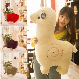 ETXK Alpaca Shape Plush Toy Doll Cute Simulation Alpaca Pillow Toy Gift For Girls Indoor