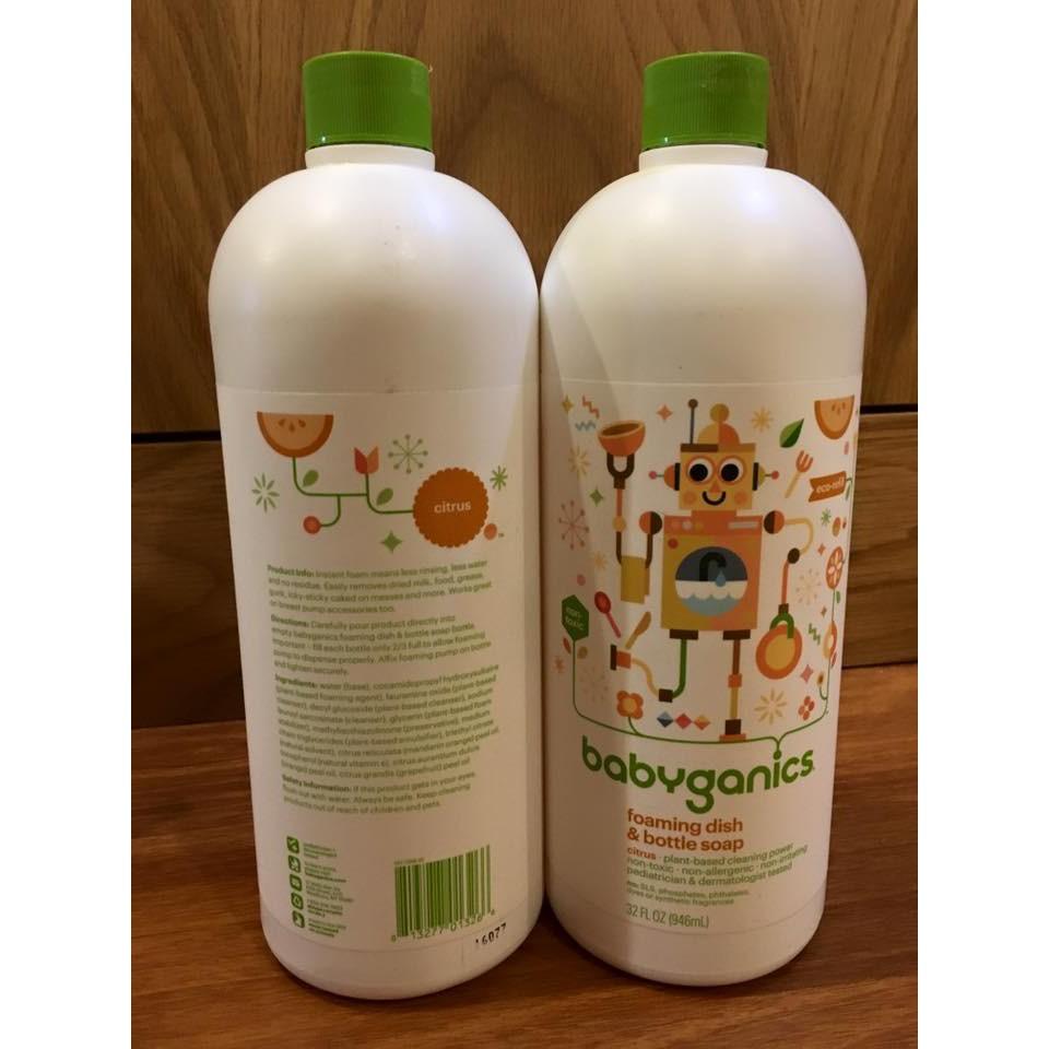 Nước rửa bình sữa Babyganics 946ml - 2461223 , 377210789 , 322_377210789 , 410000 , Nuoc-rua-binh-sua-Babyganics-946ml-322_377210789 , shopee.vn , Nước rửa bình sữa Babyganics 946ml