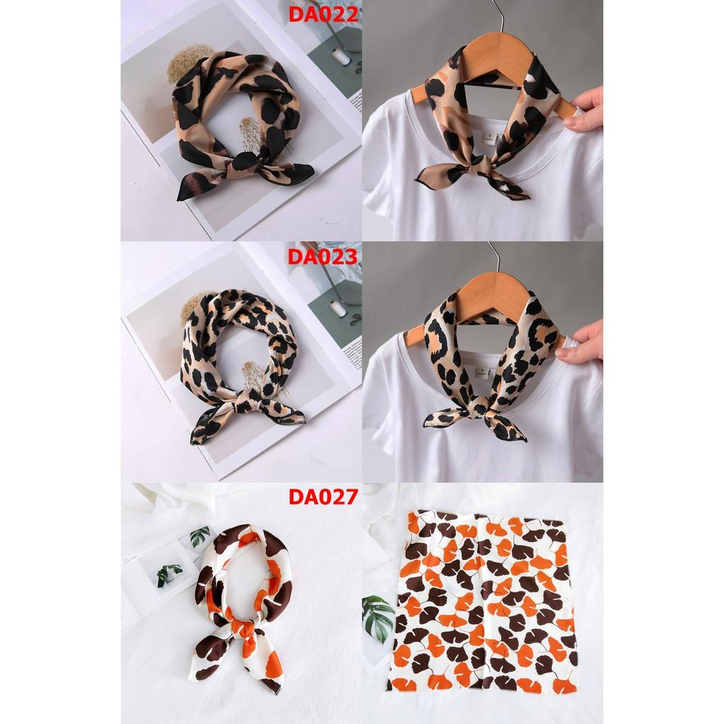 Khăn Turban Vuông Satin Nhiều Mẫu Size 50x50cm