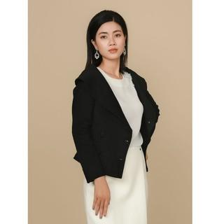 Áo đen lông cừu cổ sam thiết kế Elise thumbnail