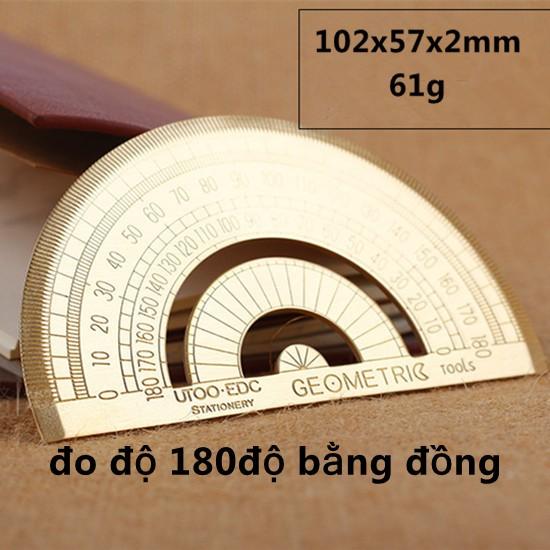 Thước đo độ 180 độ bằng đồng