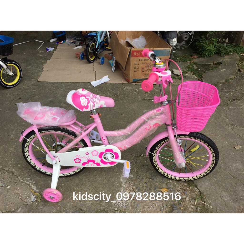 Xe đạp nữ hồng cho bé bánh (12, 14, 16, 18, 20)(Được hỗ trợ vận chuyển 40k của shopee)