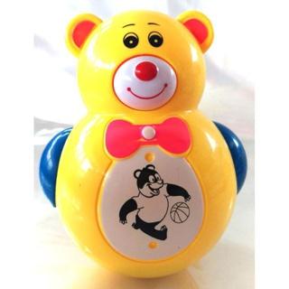 Đồ chơi lật đật hình gấu có nhạc kèm pin cho bé (ảnh thật, tặng kèm pin) thumbnail
