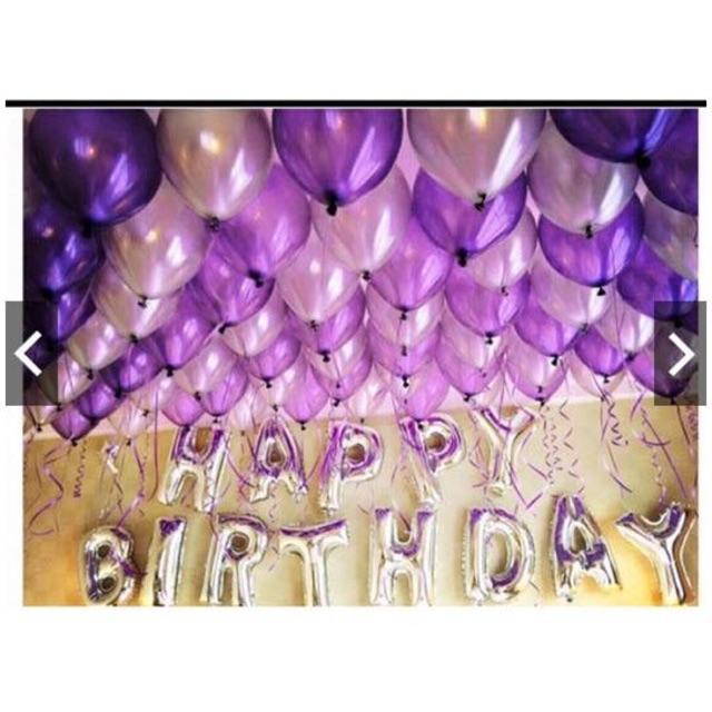 Set Happy birthday kèm bóng (Kèm băng dính và bơm