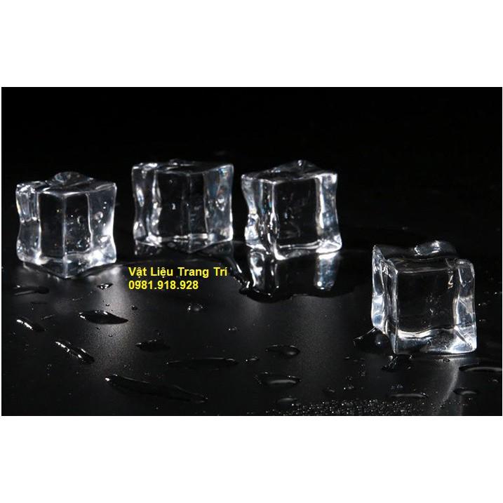 Viên đá nhựa giả 2.3cm phụ kiện trang trí, chụp ảnh, slime