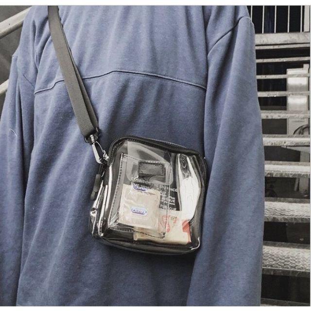 Túi Unisex Phong Cách Trẻ Trung, Túi Đeo Chéo Trong Suốt mới nhất 2020