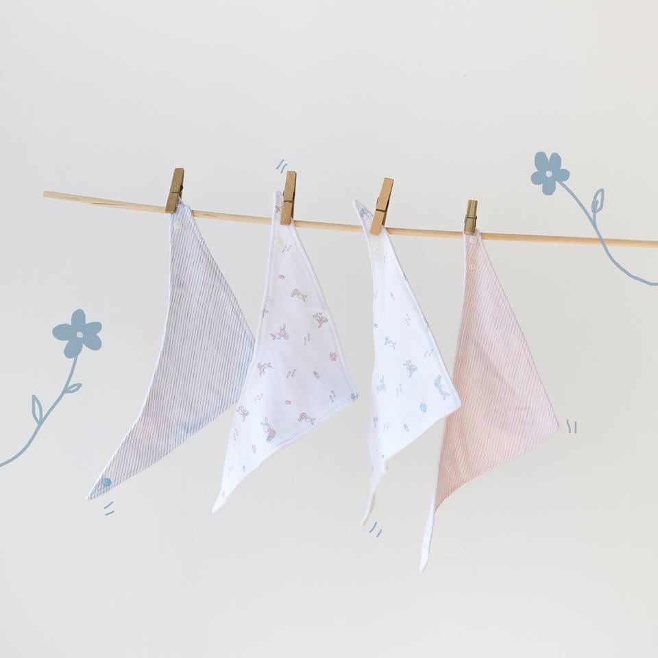 Yếm tam giác Miomio 100% cotton mềm mịn
