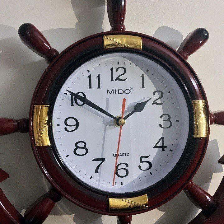 Đồng hồ treo tường mỏ neo giá rẻ - nhựa tổng hợp giả gỗ sang trọng - mới 100% (Màu nâu) - NPD-DHMN-4562