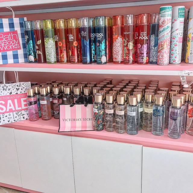 Xịt thơm body mist Victoria Secret và Bath & body works