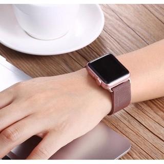 [Mã ELFLASH5 giảm 20K đơn 50K] Dây thép đồng hồ Apple Watch Series 1/2/3/4/5 size 38 40 42 44 mm