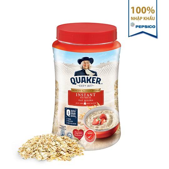 Yến mạch ăn liền Quaker hũ 600g