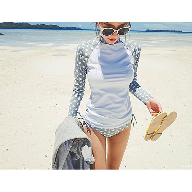 (có sẵn) Đồ bơi bikini dài tay phong cách Hàn quốc