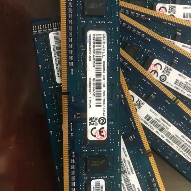 Ram pc 4gb pc3l 12800 chính hãng đồng bộ