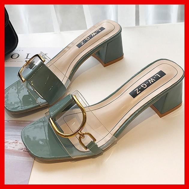 Giày sandal hở mũi quai trong - SD100