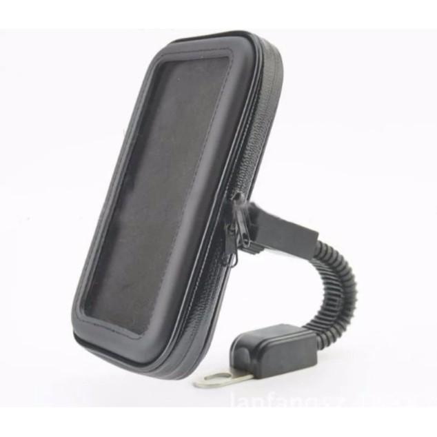 Giá đỡ điện thoại xe máy, xe đạp chống nước hỗ trợ cảm ứng 3 lớp chống sóc phượt [5.5-6.5inch]