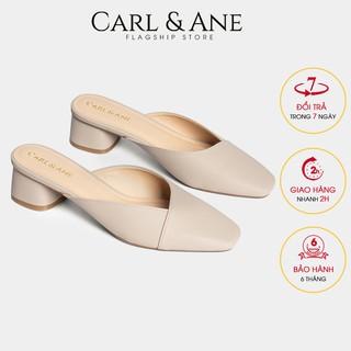 Carl & Ane - Dép cao gót bít mũi gót vuông cao 4cm màu nude _ CL008