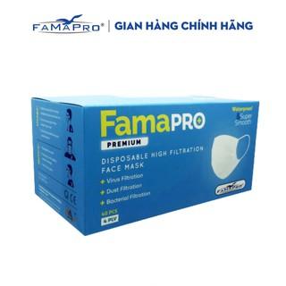 Khẩu trang y tế cao cấp 4 lớp kháng khuẩn Famapro Premium hàng xuất khẩu Châu Âu ( 40 cái hộp ) thumbnail