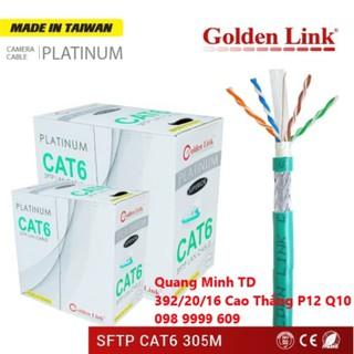 CÁP MẠNG GOLDEN LINK PLATINUM SFTP CAT 6 (XANH LÁ MADE IN TAIWAN) thumbnail