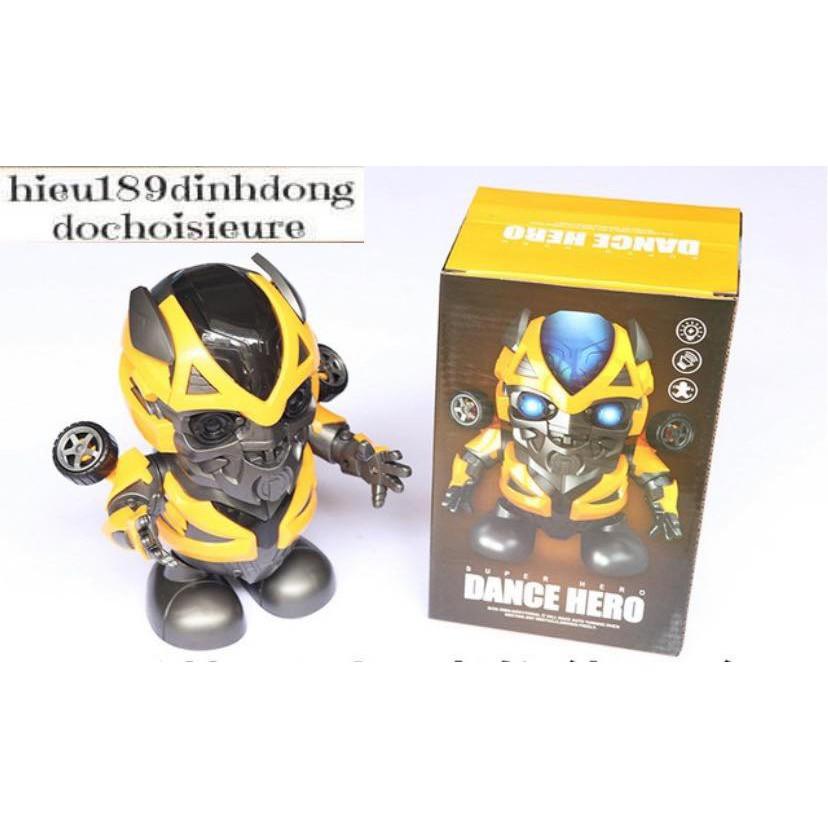 Đồ chơi Dance hero robot bumblebee nhảy vui nhộn có nhạc có đèn tặng kèm pin (ảnh thật kèm video)
