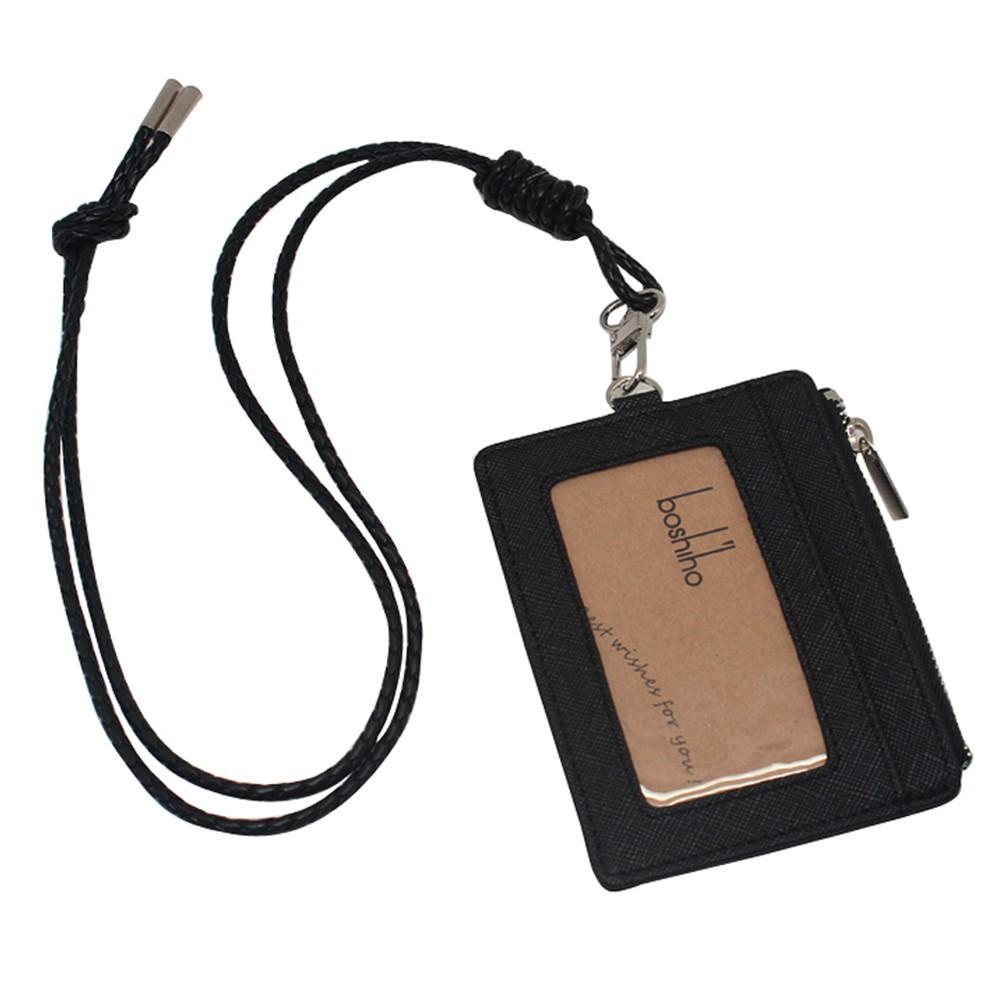 กระเป๋าสตางค์หนังแท้ใบยาวของผู้หญิงแบบมีซิปใส่บัตรได้