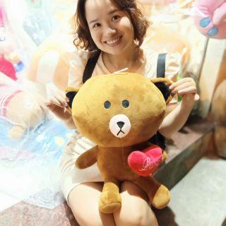 Gấu bông , gấu brown ôm tim 50cm