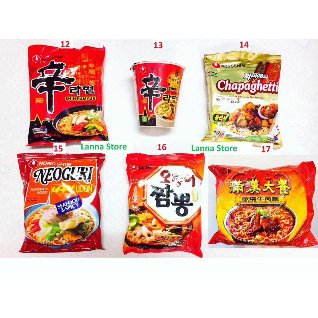 [HOT] Combo 5 loại mì Hàn Quốc và Đài Loan siêu hot