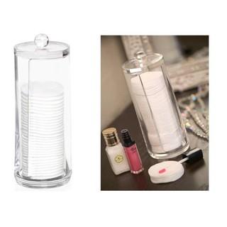 Hộp đựng mỹ phẩm 💓FREESHIP💓 Hộp nhựa trong đựng bông tẩy trang thường dùng trong sinh hoạt, an toàn tuyệt đối 7835